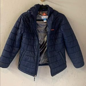 Boys Navy Columbia puffy coat youth large